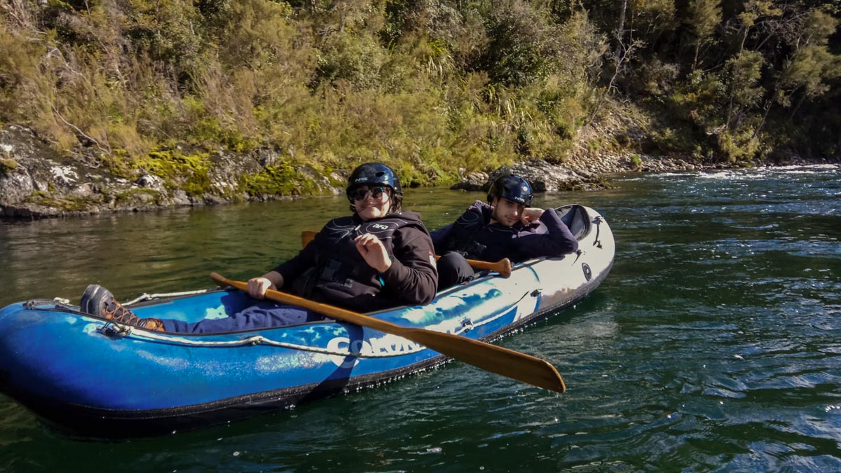 Kayaking at the Pelorus River, Havelock New Zealand