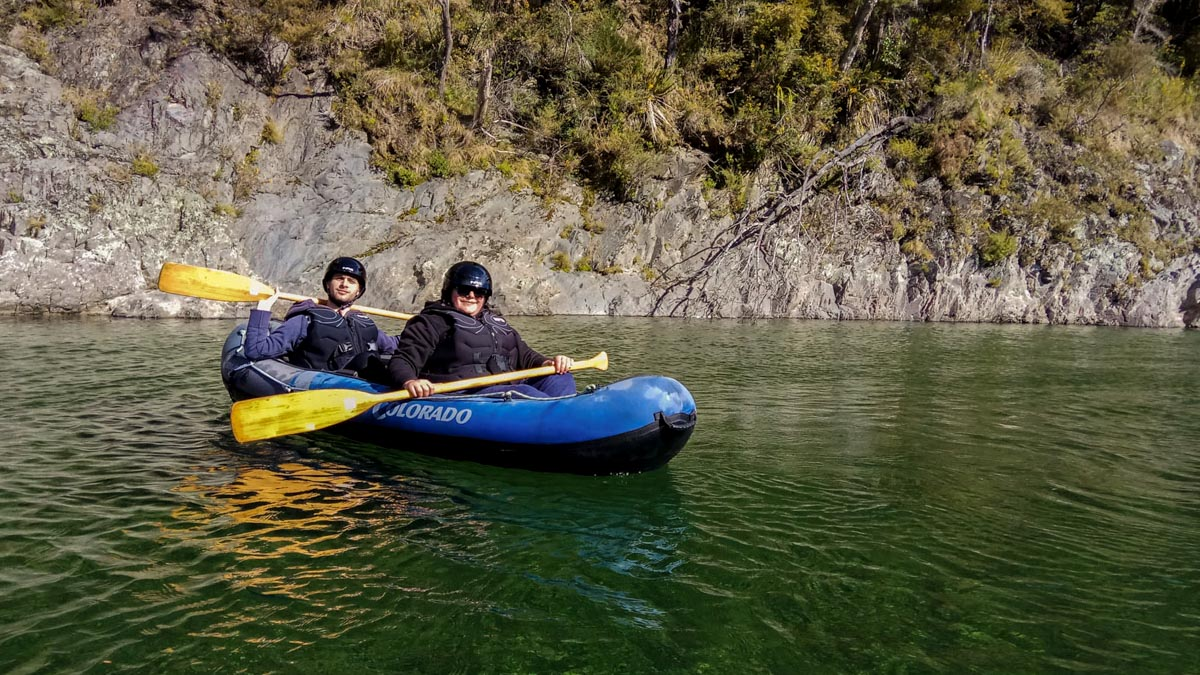 Kayaking at the Pelorus River in New Zealand