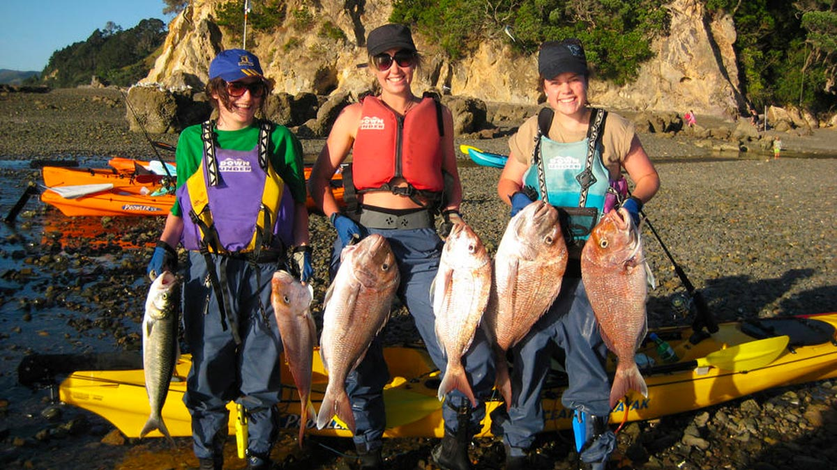 Kayak Fishing New Zealand Girls