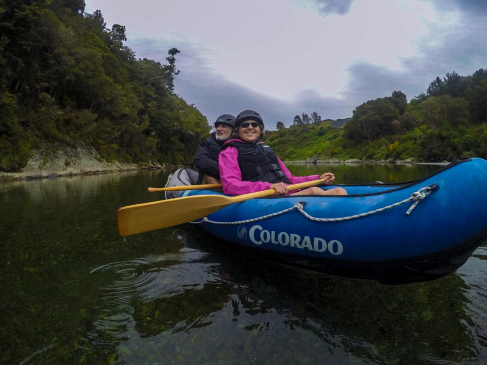 Couple experiencing our Kayaking Tour in New Zealand