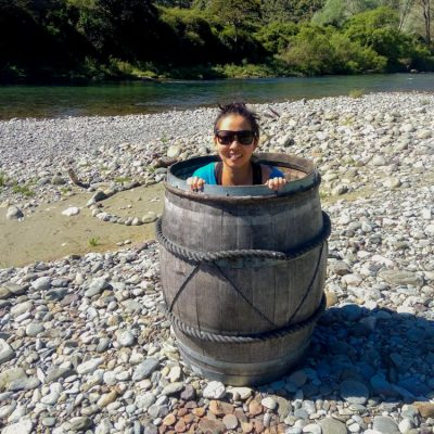 Happy Kayaker at the Pelorus River