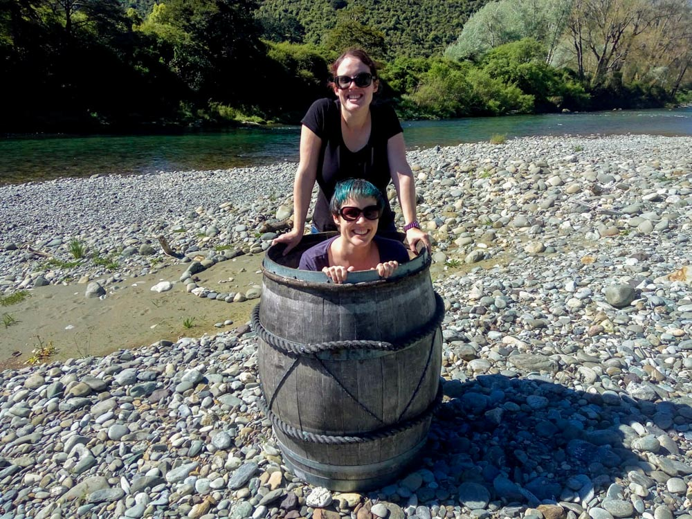 Hobbit Tour Barrel at the Pelorus River