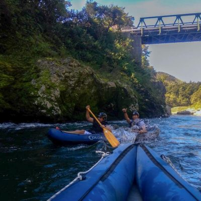 Kayaking fun in New Zealand