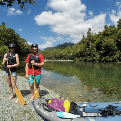 Couple of Kayakers at the Pelorus River