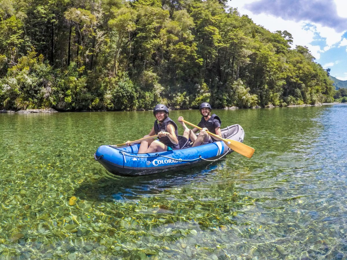 Couple Kayaking at the Pelorus River