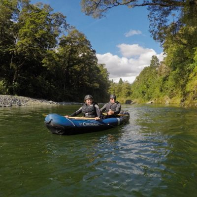 Couple experiencing our Kayak Tour in New Zealand