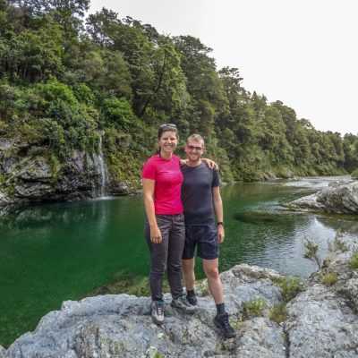 Couple at Pelorus River in New Zealand
