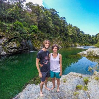 Couple at Pelorus River, NZ