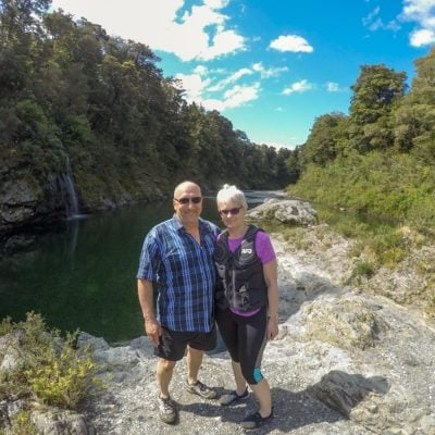 Couple at Pelorus River, NZ South Island