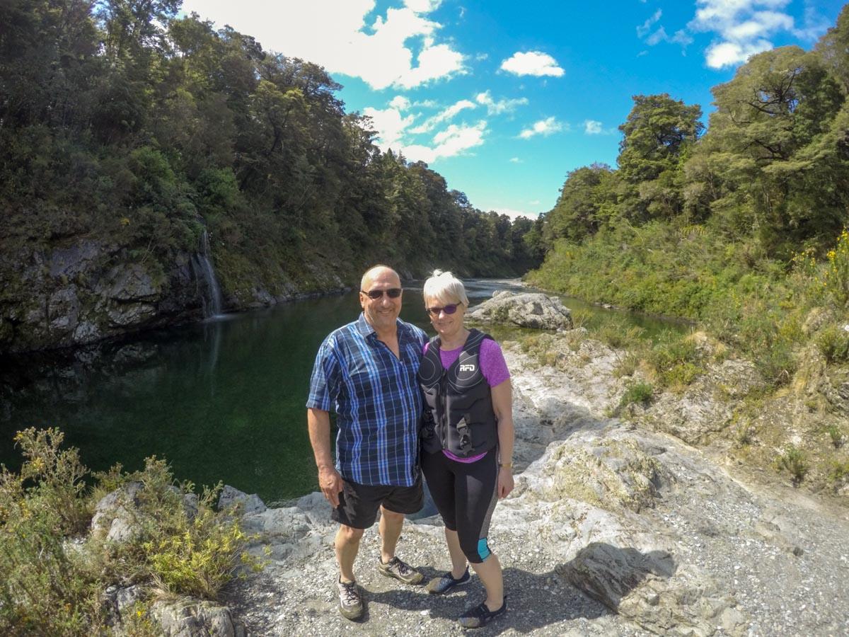 Couple at Pelorus River, NZ South Island