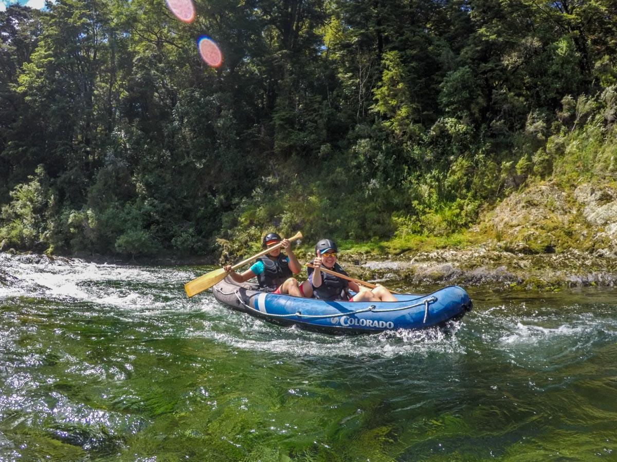 Friends Kayaking on the Pelorus River, NZ