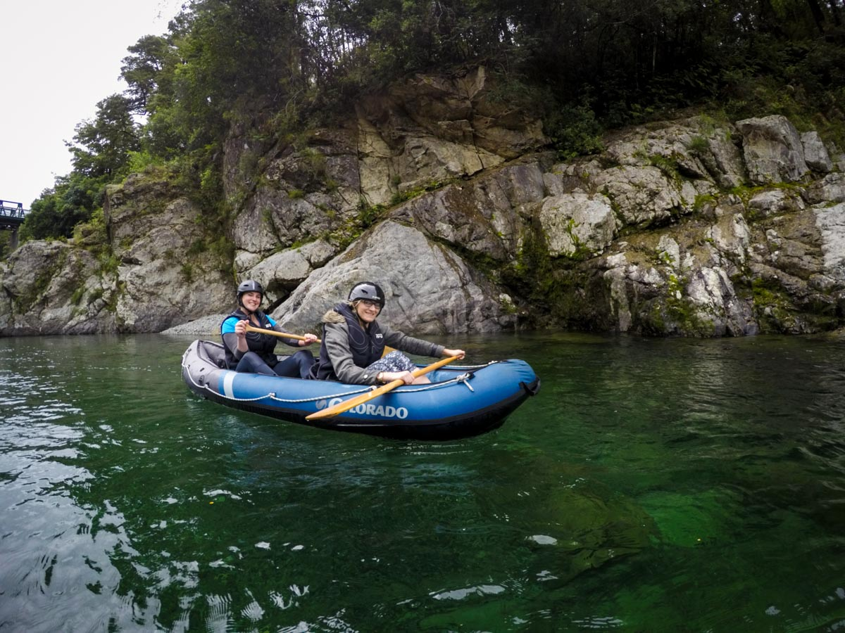 Friends Kayaking on the Pelorus River