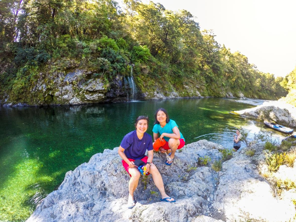 Girls at the Pelorus River, New Zealand