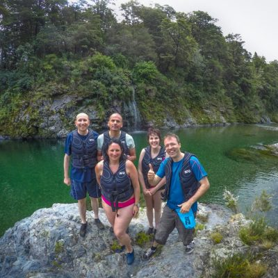 Group of Friends at the Pelorus River