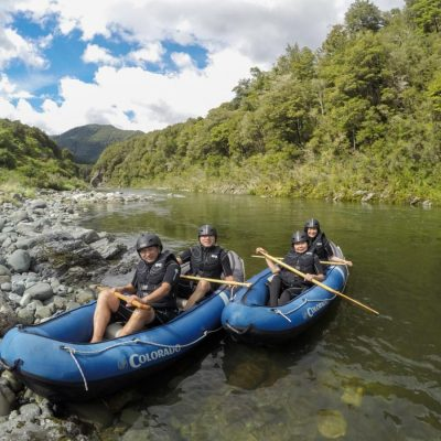 Group of Kayakers in Havelock, New Zealand