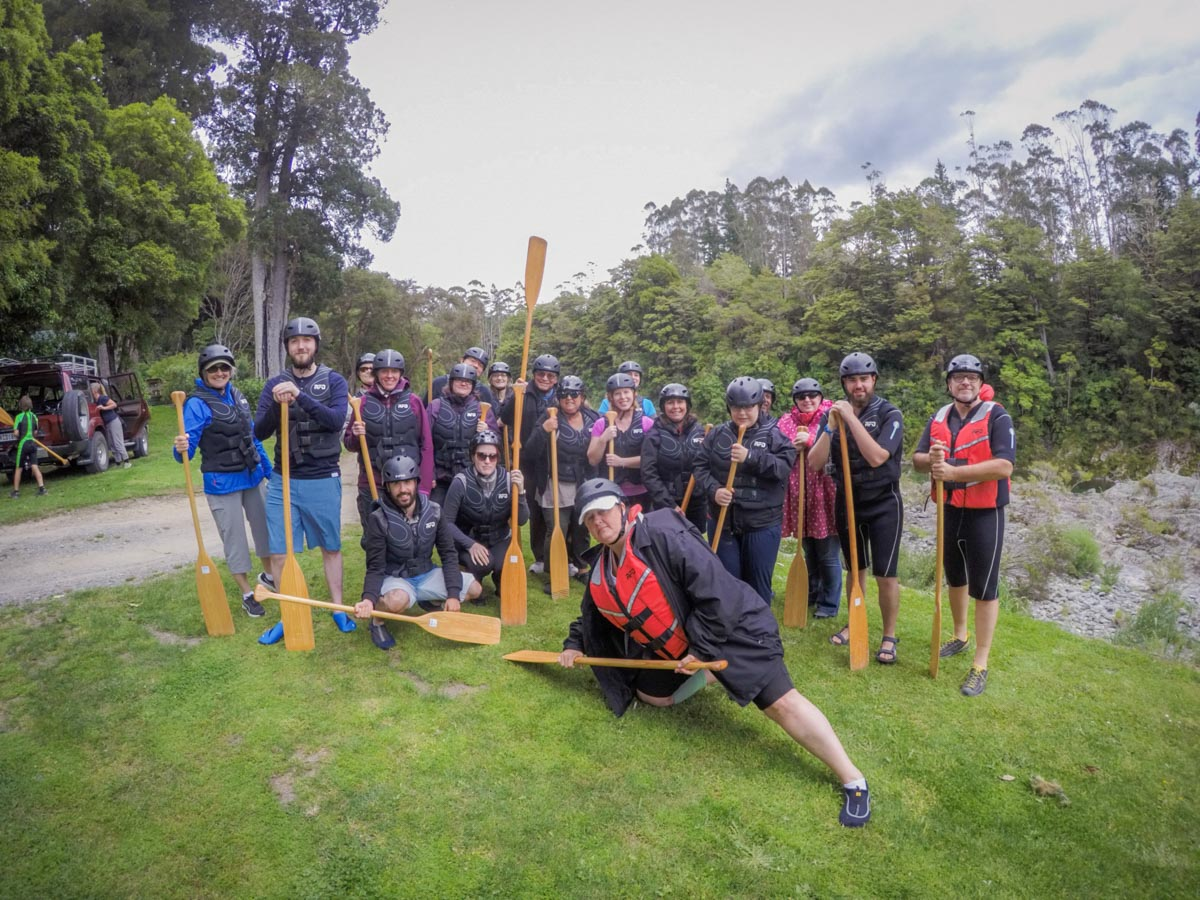 Kayaking Group in New Zealand