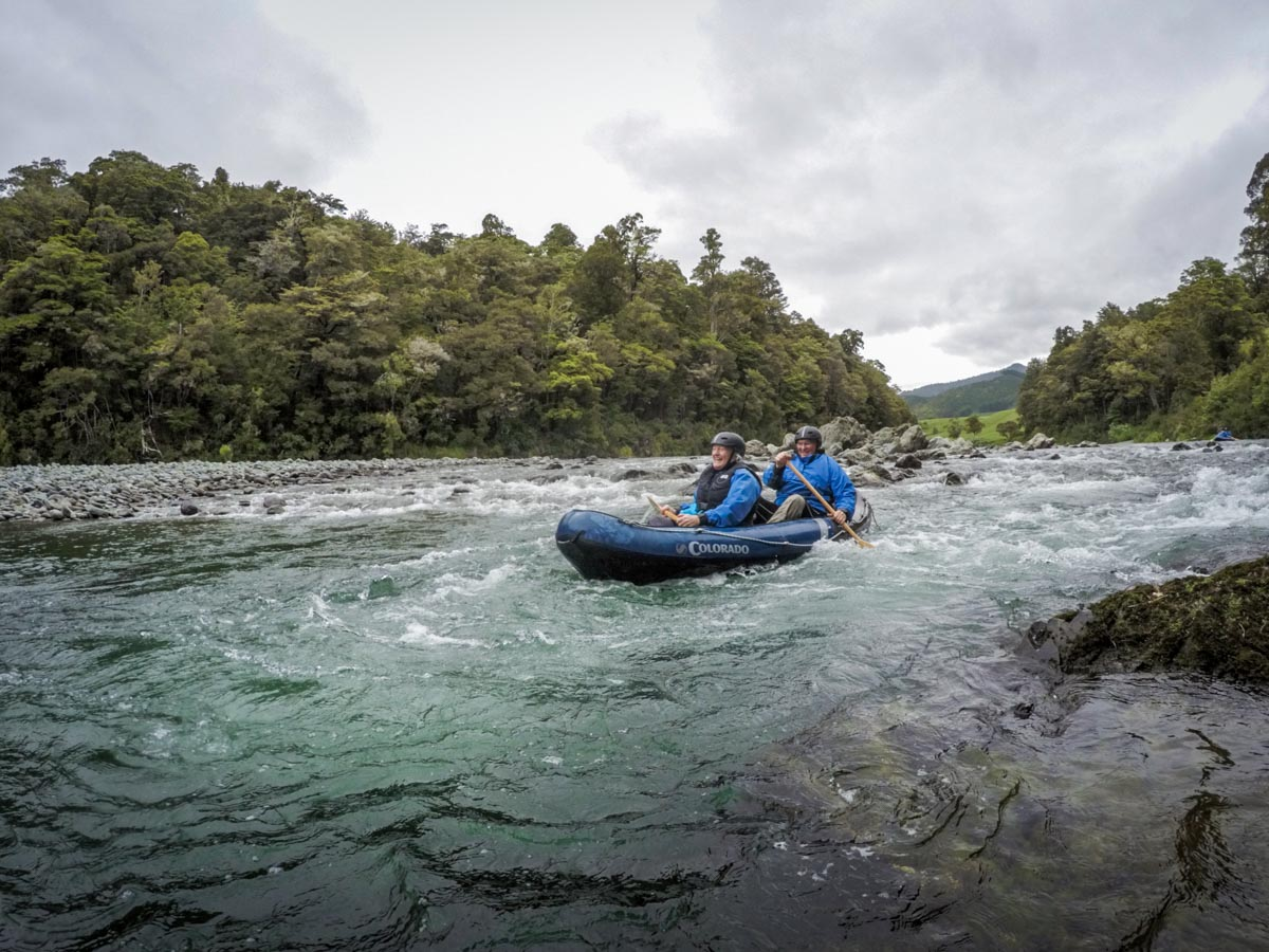 Kayaking on the Pelorus River, New Zealand