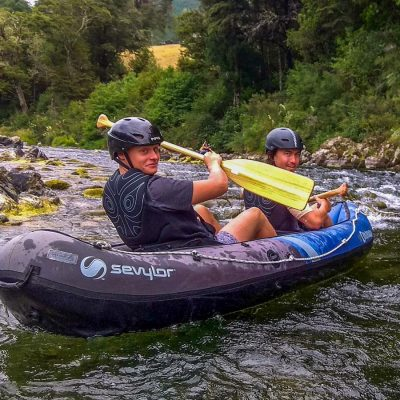 Couple of Friends Kayaking in NZ