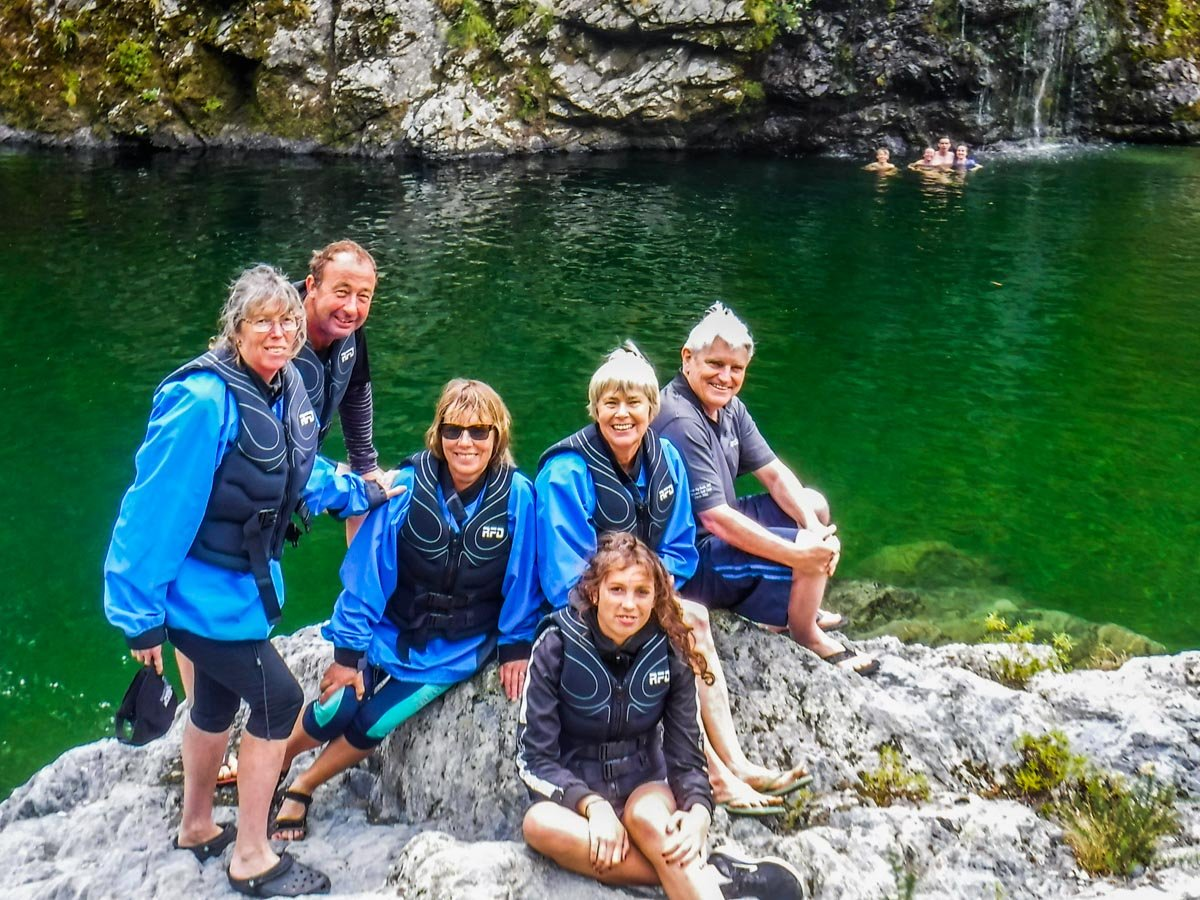 Family Group at the Pelorus River, Havelock