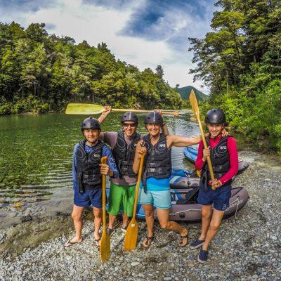Family experiencing our Hobbit Kayak Tour
