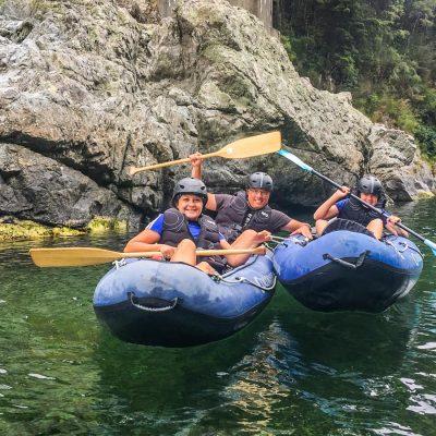 Family Kayaking at the Pelorus River