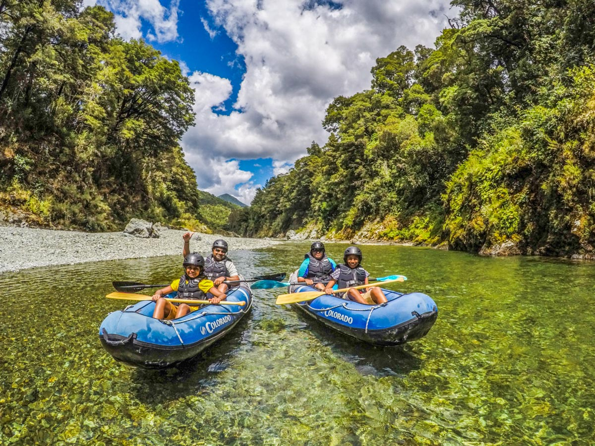 Family Kayaking Tour at the Pelorus River