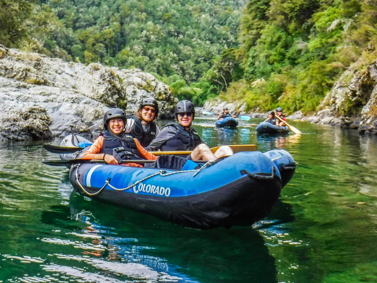 Friends experiencing our Kayak Tour in New Zealand