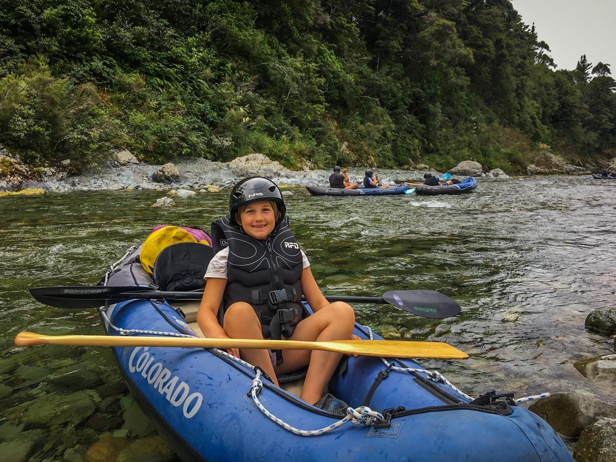 Girl Kayaking at the Pelorus River