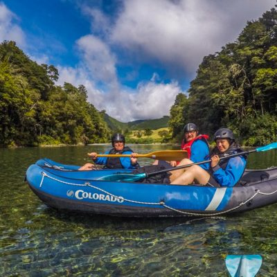 Group of Friends Kayaking at the Pelorus River