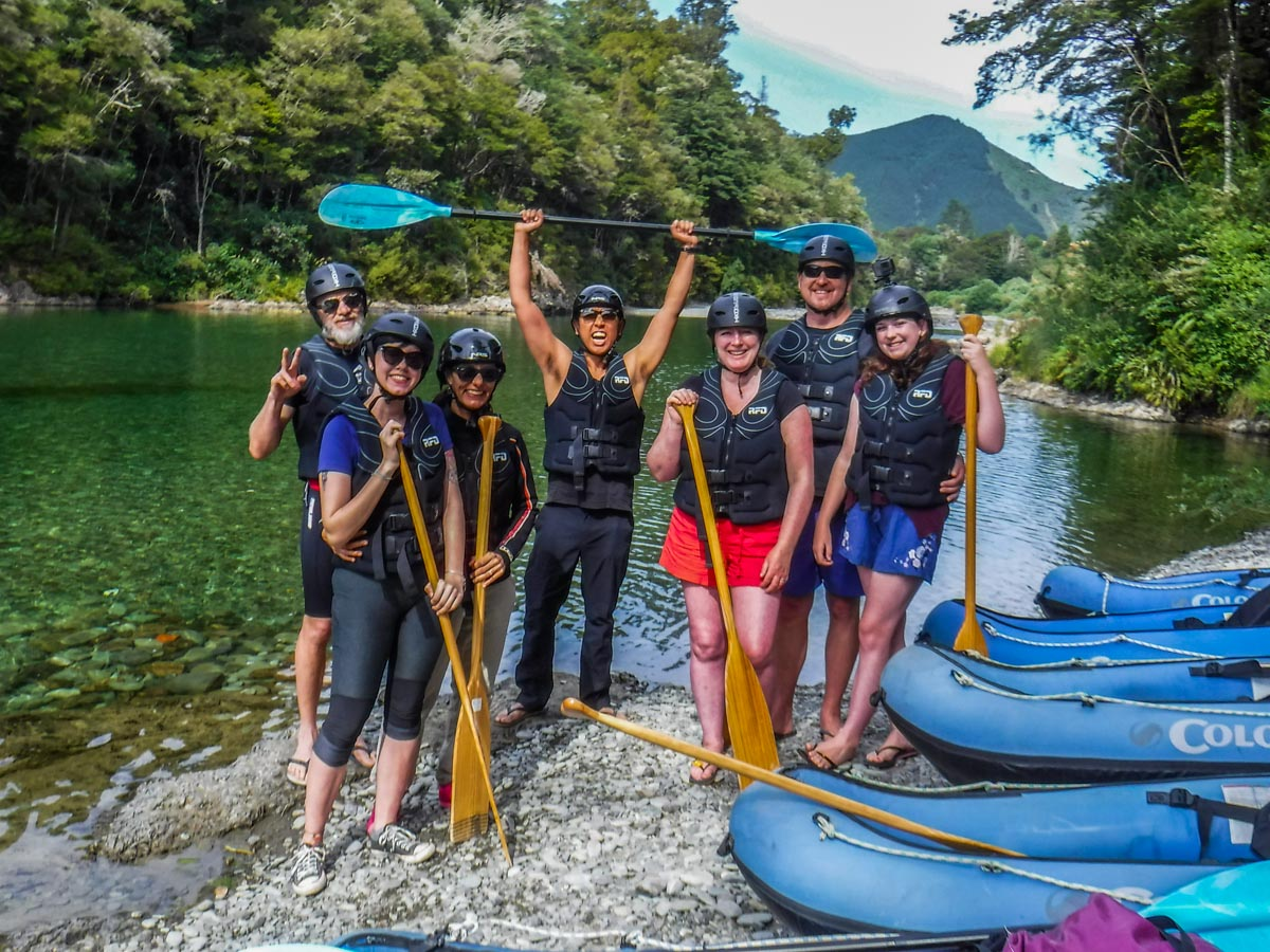Group of Kayakers in New Zealand
