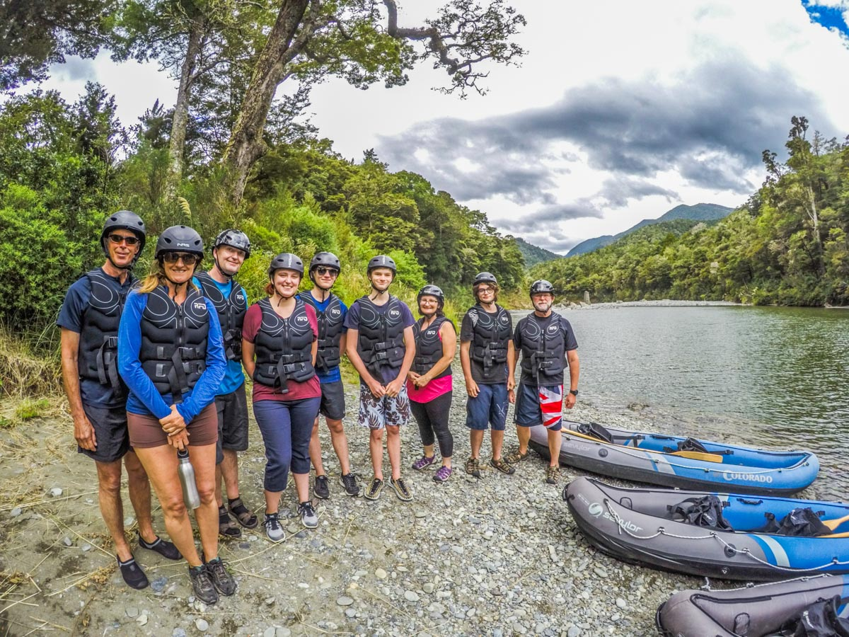 Group at the Pelorus River Beach