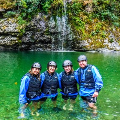 Group at the Pelorus River Falls