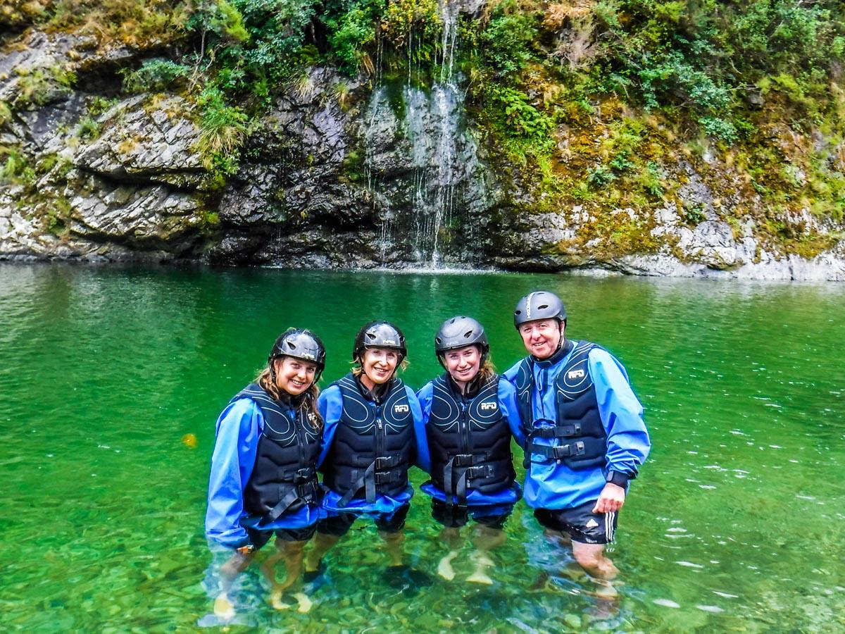 Group at the Pelorus River Falls