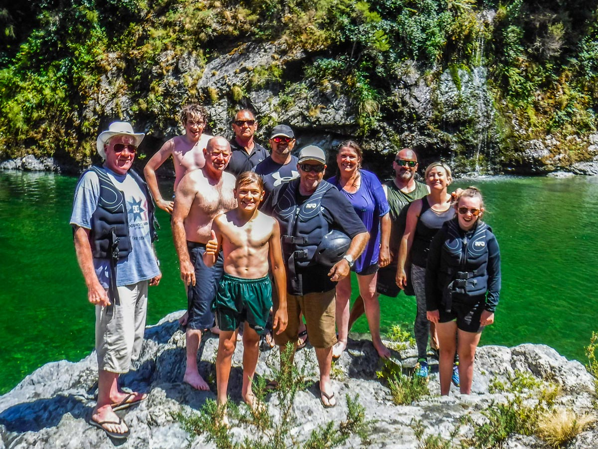 Group at the Pelorus River, Havelock NZ