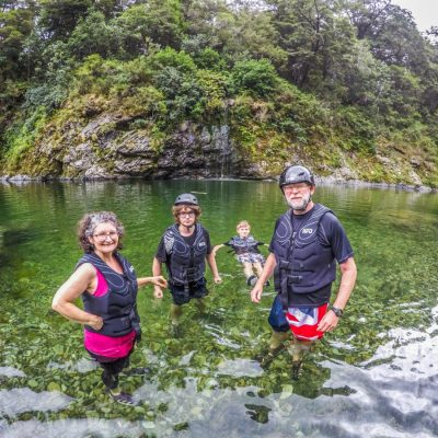 Group Swimming at the Pelorus River