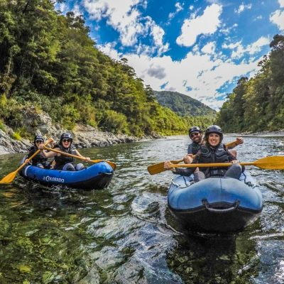 Happy Kayakers at the Pelorus River