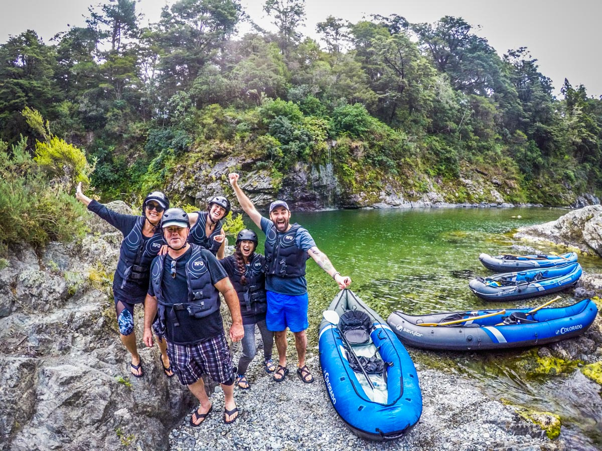Happy Group at the Pelorus River, Havelock