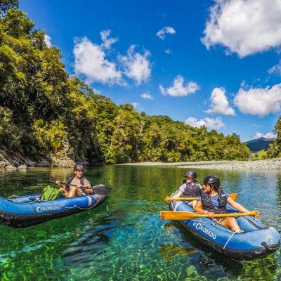 Kayaking at the Pelorus River, New Zealand