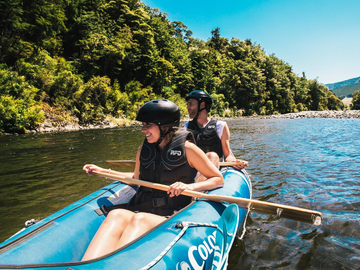 Couple at our Hobbit Kayak Tour, NZ