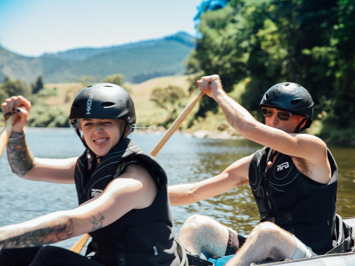 Friends Kayaking the Pelorus River