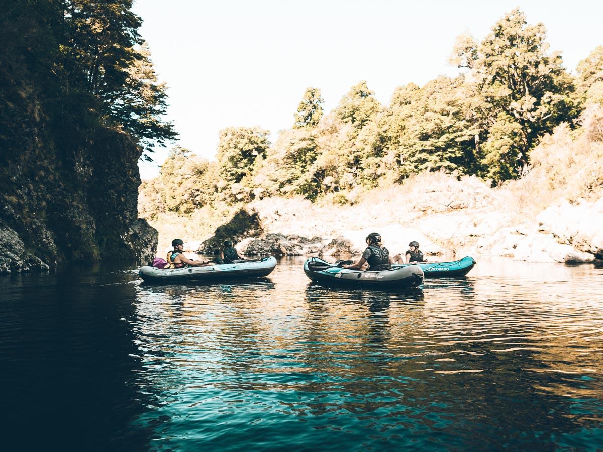 Group Kayaking in Havelock, New Zealand