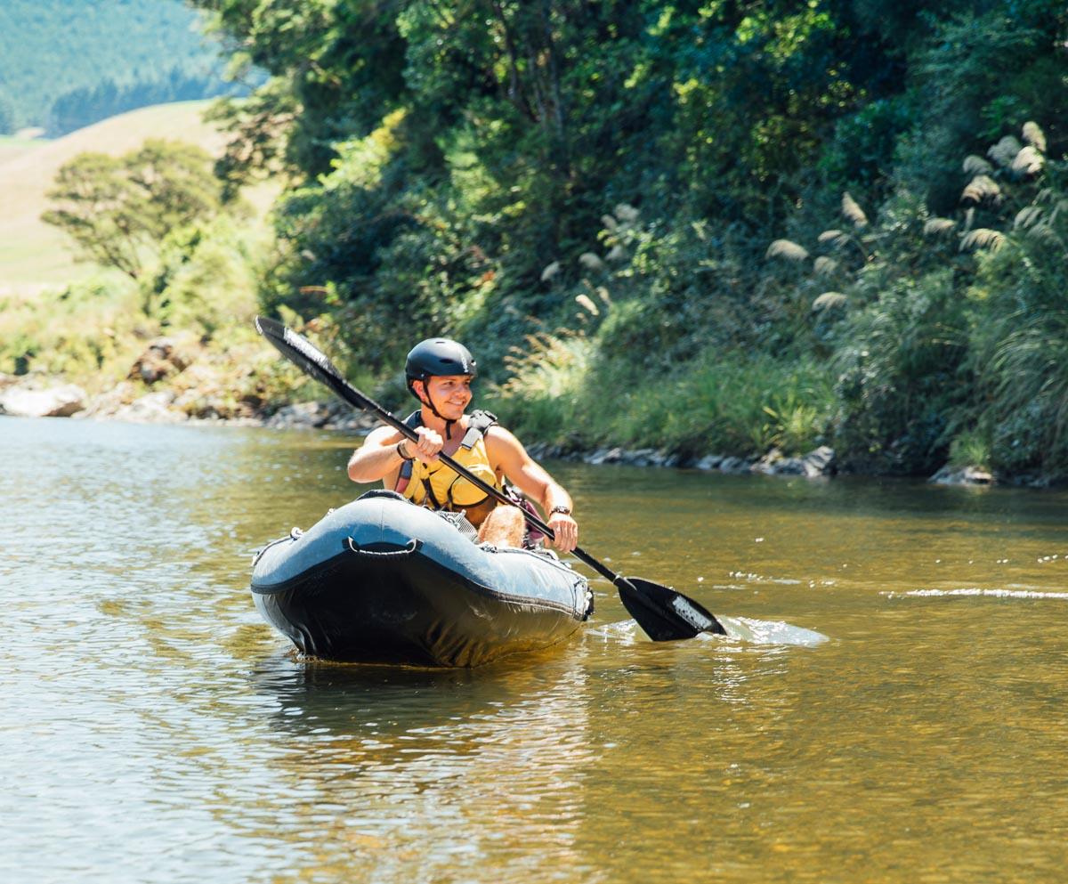 Guide Petr Kayaking the Pelorus River