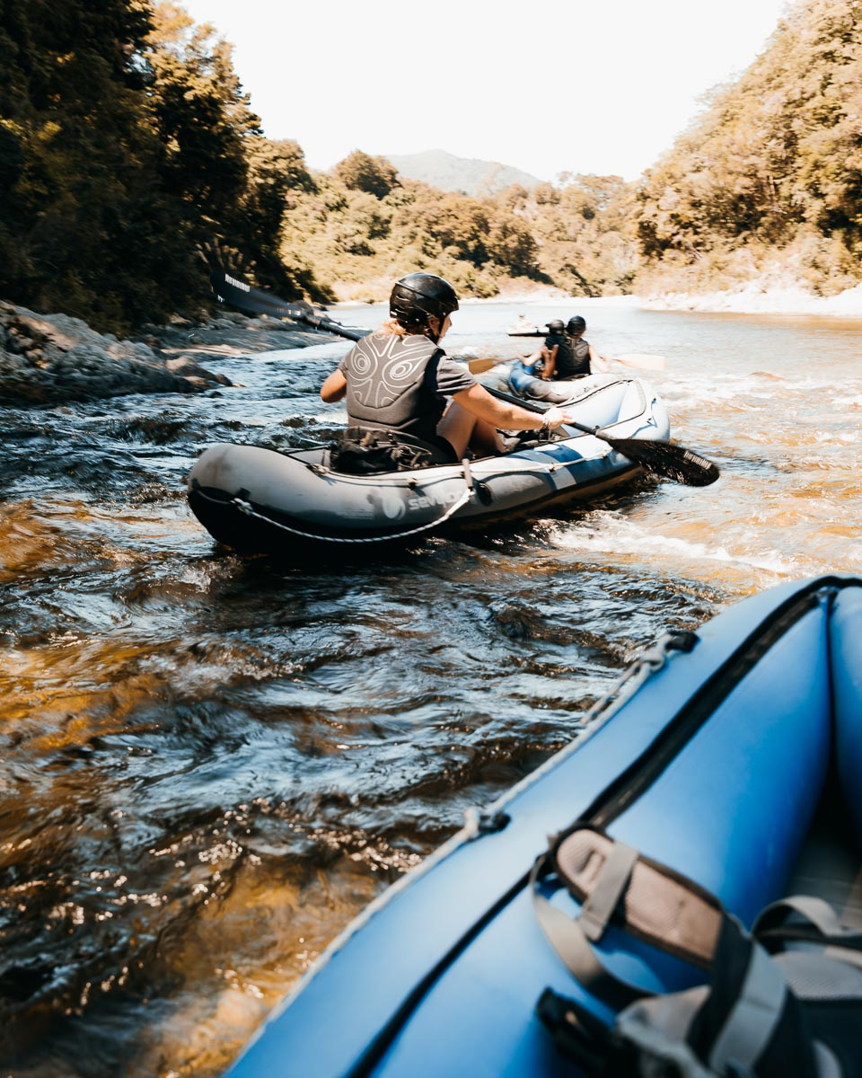 Kayaking the Pelorus River, NZ