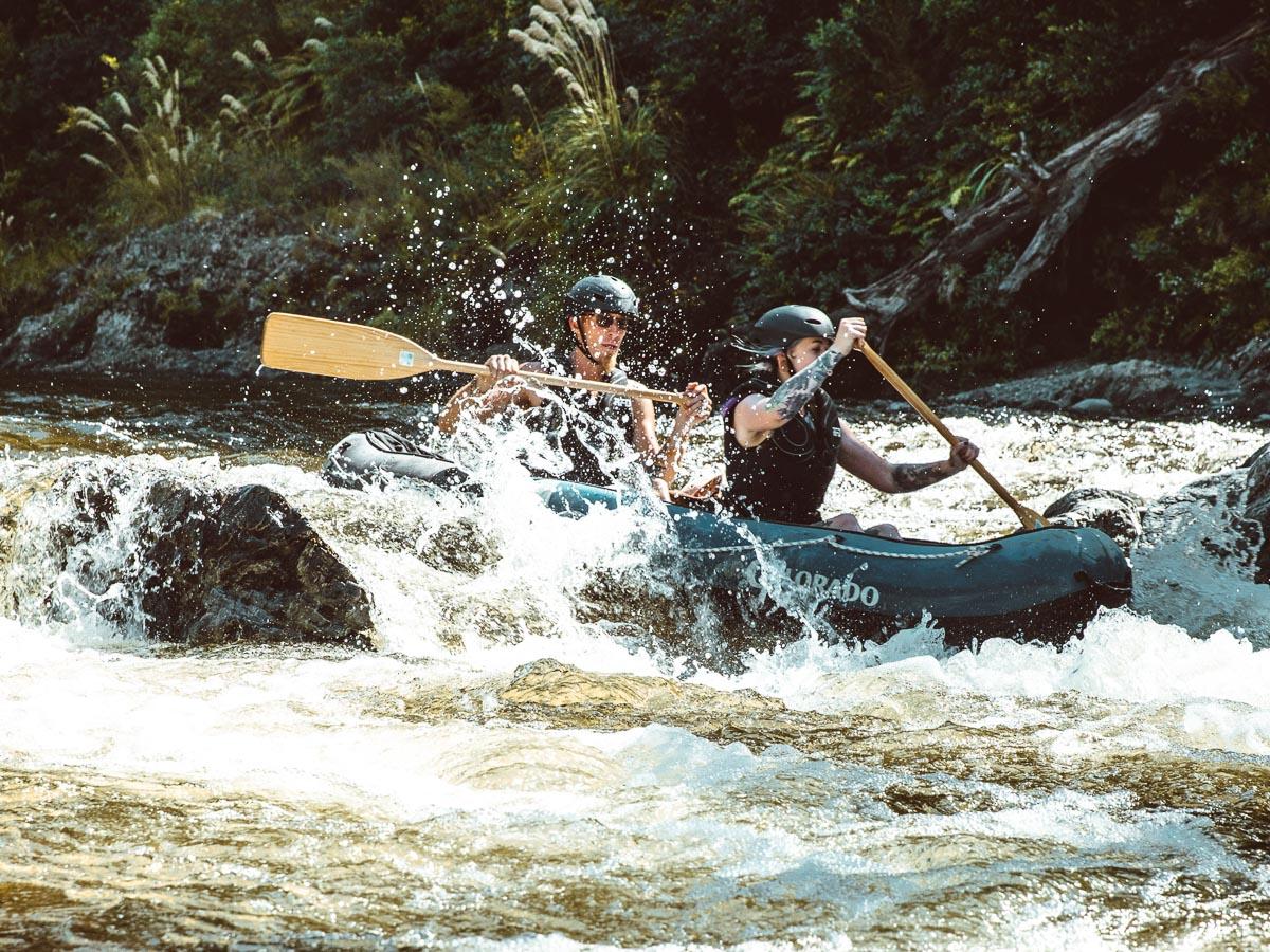 Kayaking Pelorus River Rapids, NZ
