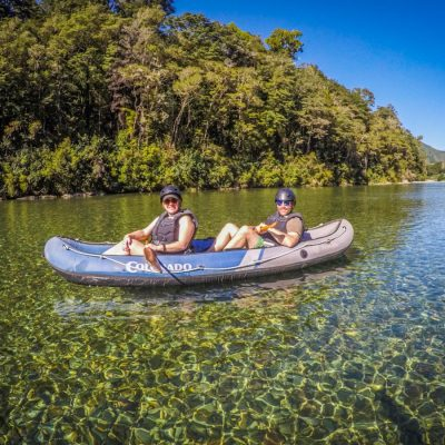 Couple Kayaking Crystal Clear Water at the Pelorus River