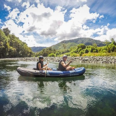 Couple Kayaking in New Zealand