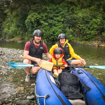 Family with Baby at the Pelorus River