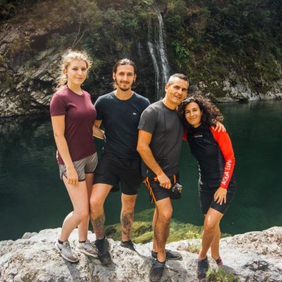 Family at the Pelorus River, NZ