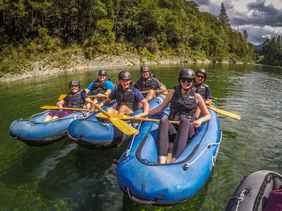 Group of Kayakers at the Pelorus River
