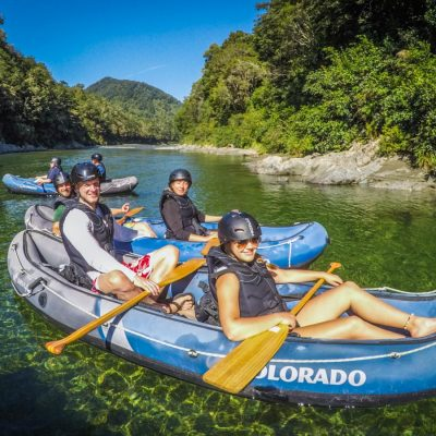 Group Kayaking the Pelorus River Tour
